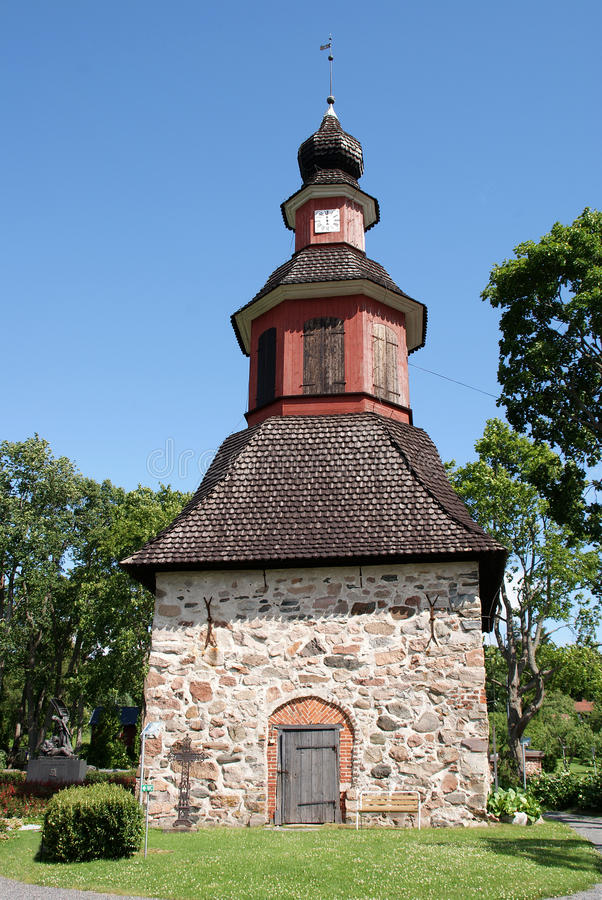 Bell Tower in Perniö, Finland royalty free stock photos