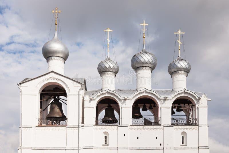 Bell tower, Rostov Kremlin, Russia. Belfry in Rostov Kremlin, Russia royalty free stock photos