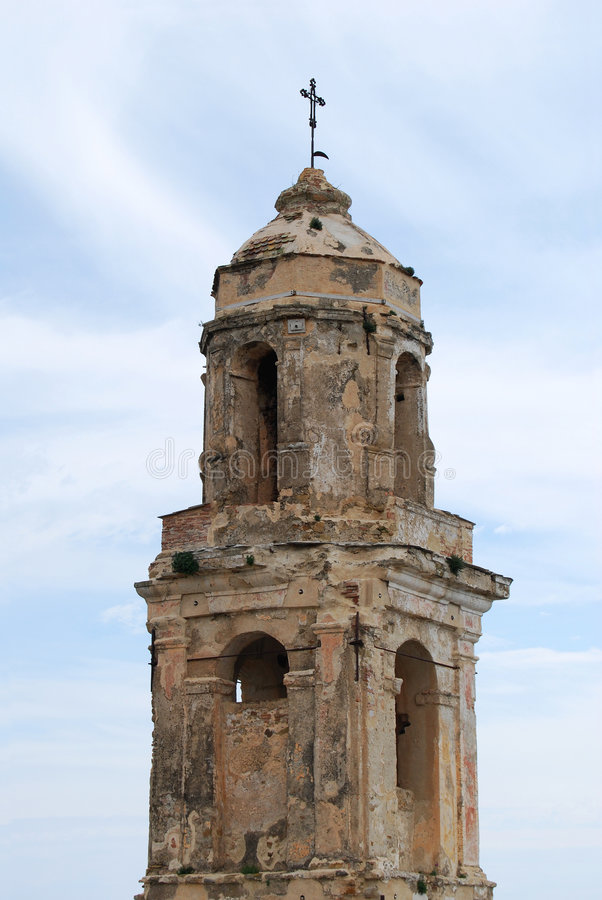 Download Bell tower ruins stock image. Image of earthquake, bussana - 5227117