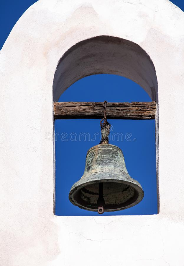 Bell Tower of San Xavier del Bac Mission stock photo