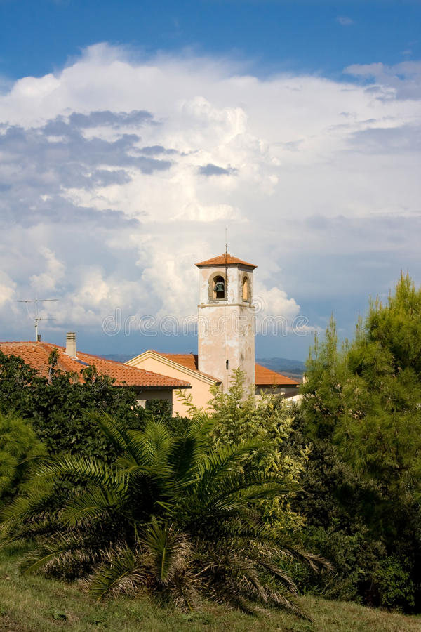 Bell Tower Of Santa Maria Assunta Church stock photography