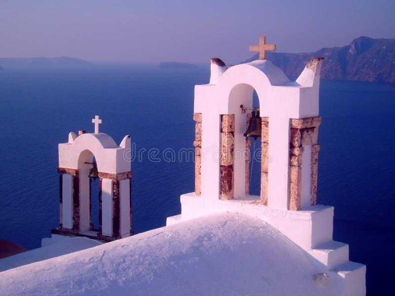 Bell Tower - Santorini royalty free stock photos
