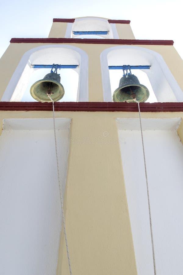 Bell tower in Santorini. Orthodox Church. Religion symbol royalty free stock photos