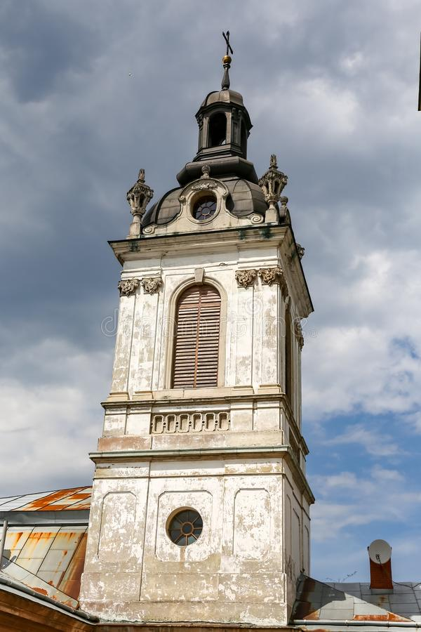 Bell Tower of St. Georges Cathedral in Lviv, Ukraine. Bell Tower of St. Georges Cathedral in Lviv City, Ukraine royalty free stock images