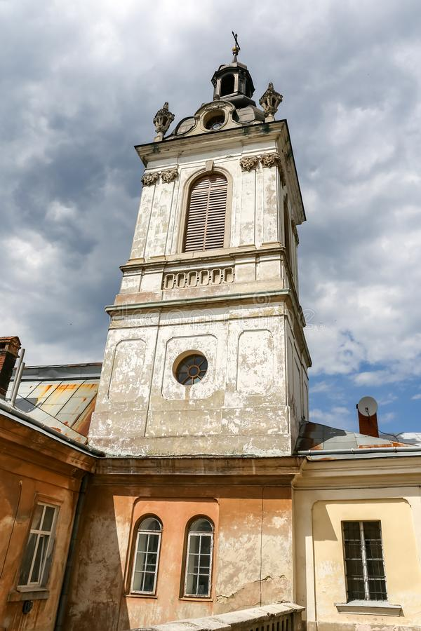 Bell Tower of St. Georges Cathedral in Lviv, Ukraine. Bell Tower of St. Georges Cathedral in Lviv City, Ukraine stock image
