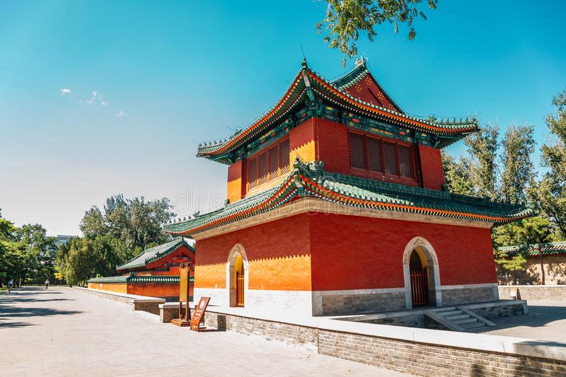 Bell Tower at Temple of Earth, Ditan Park at Beijing, China. Bell Tower at Temple of Earth, Ditan Park in Beijing, China stock photo