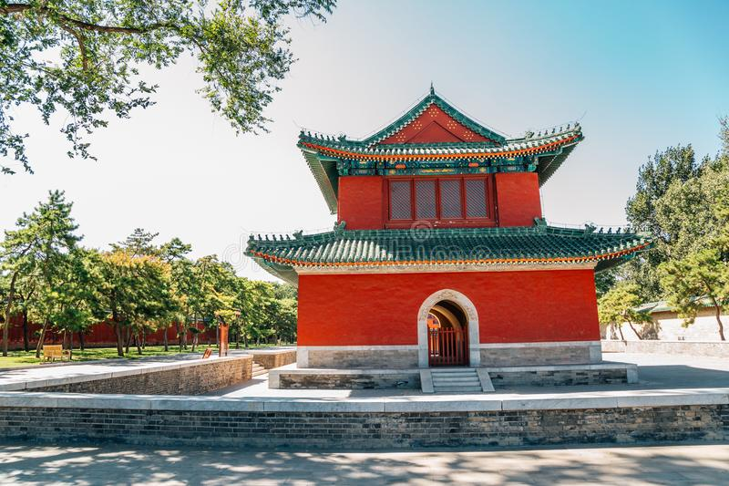 Bell Tower at Temple of Earth, Ditan Park in Beijing, China. Bell Tower at Temple of Earth, Ditan Park at Beijing, China stock photos
