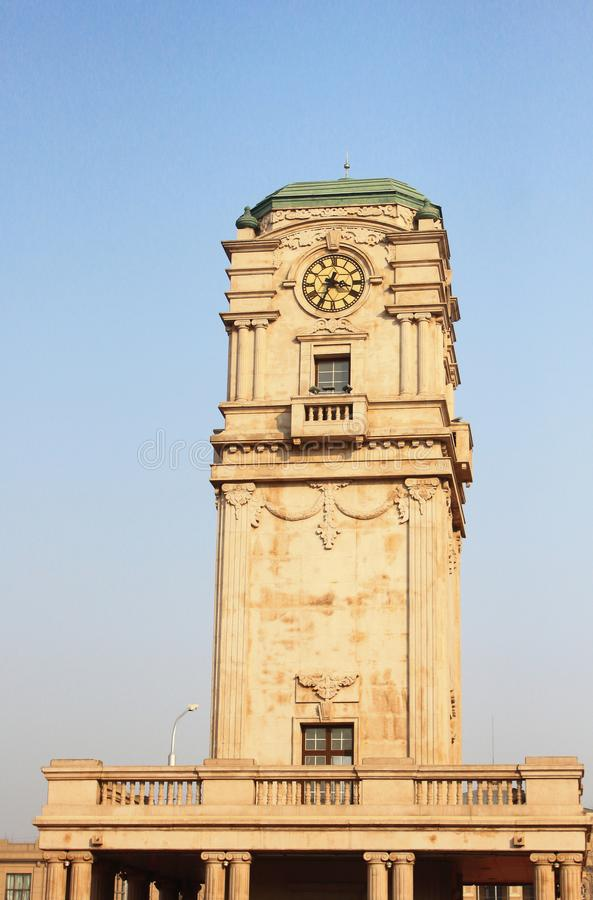 Bell tower of the Tianqiao public square stock photo