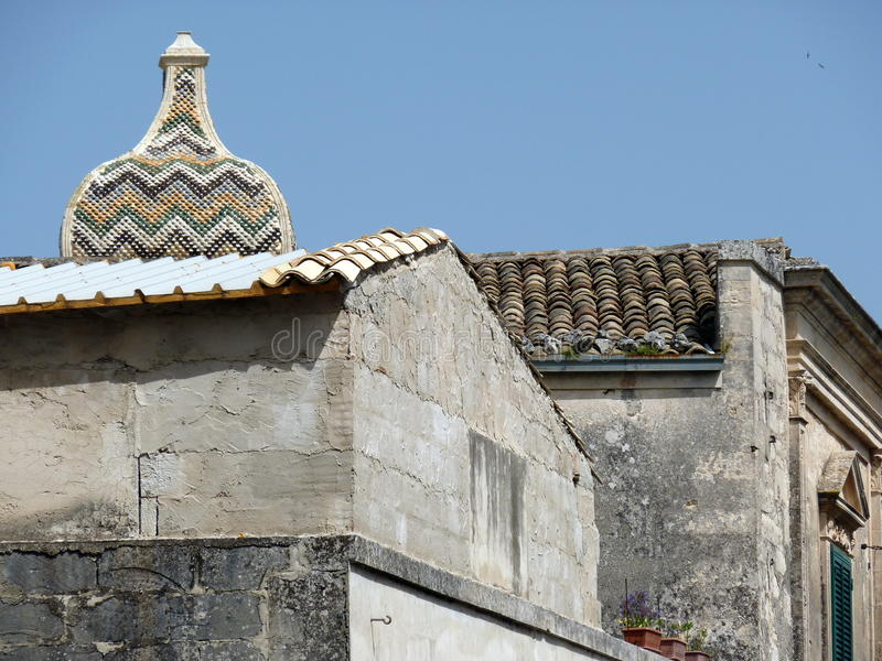 Download Bell Tower Top Behind The Roofs Stock Photo - Image: 19586530