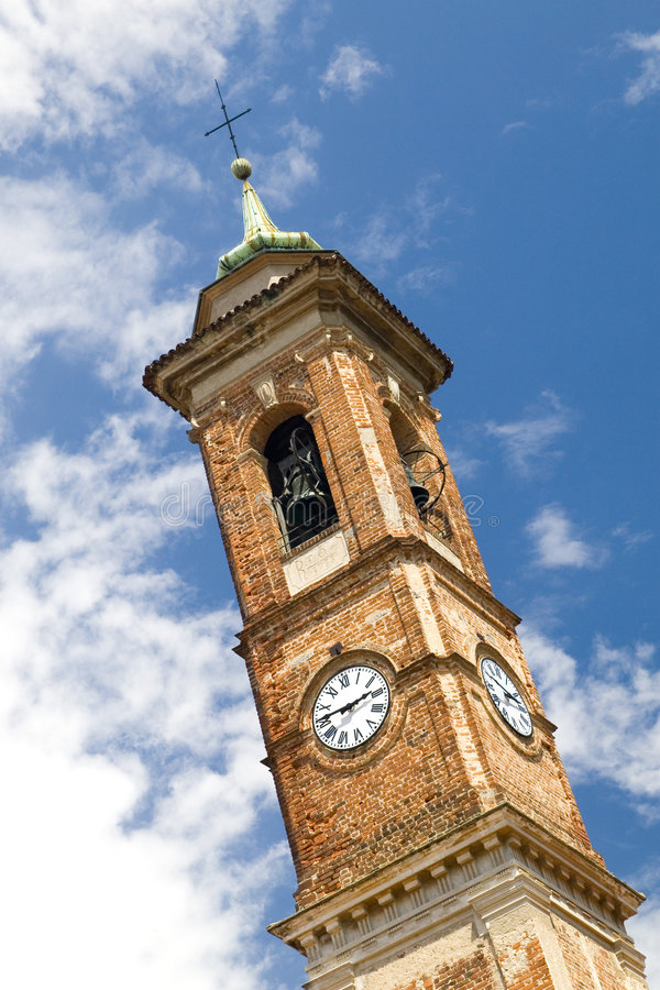 Free Bell Tower With A Clock Stock Images - 2837844