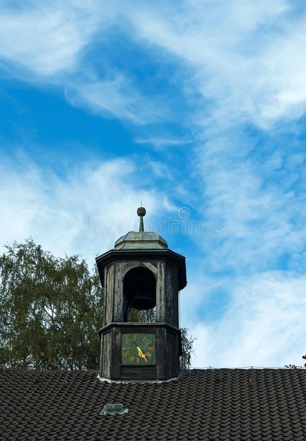 Free Bell Tower With Chimes On Roof Of The Old House Stock Images - 63989834