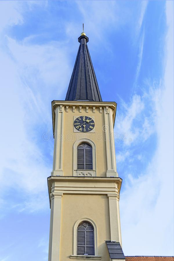 Free Bell Tower With Clock At Old Town Stock Photo - 139945100