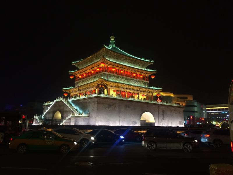 Bell tower in xi& x27;an stock images