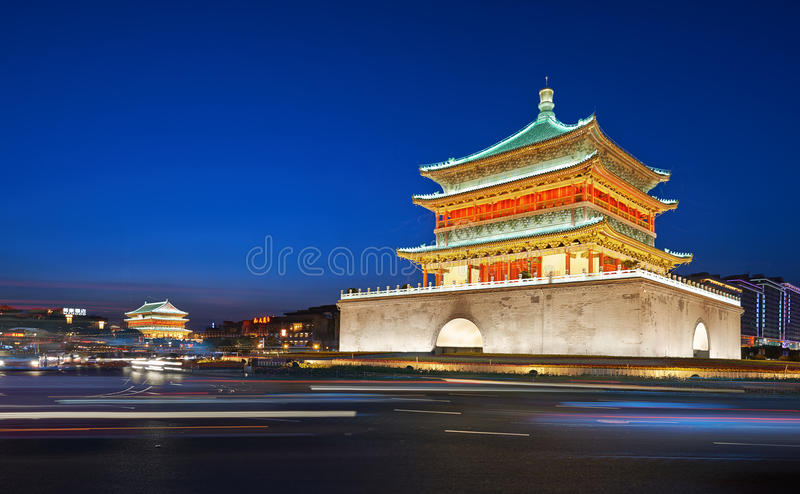 Bell Tower of Xian royalty free stock photos
