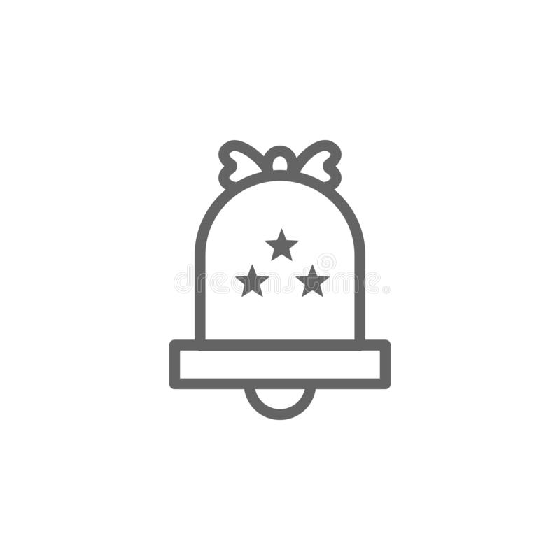 Bell, USA icon. Element of 4th of july icon. Thin line icon for website design and development, app development. Premium icon royalty free illustration