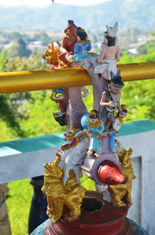 Bell w Tai Ta Ya monasterze fotografia royalty free