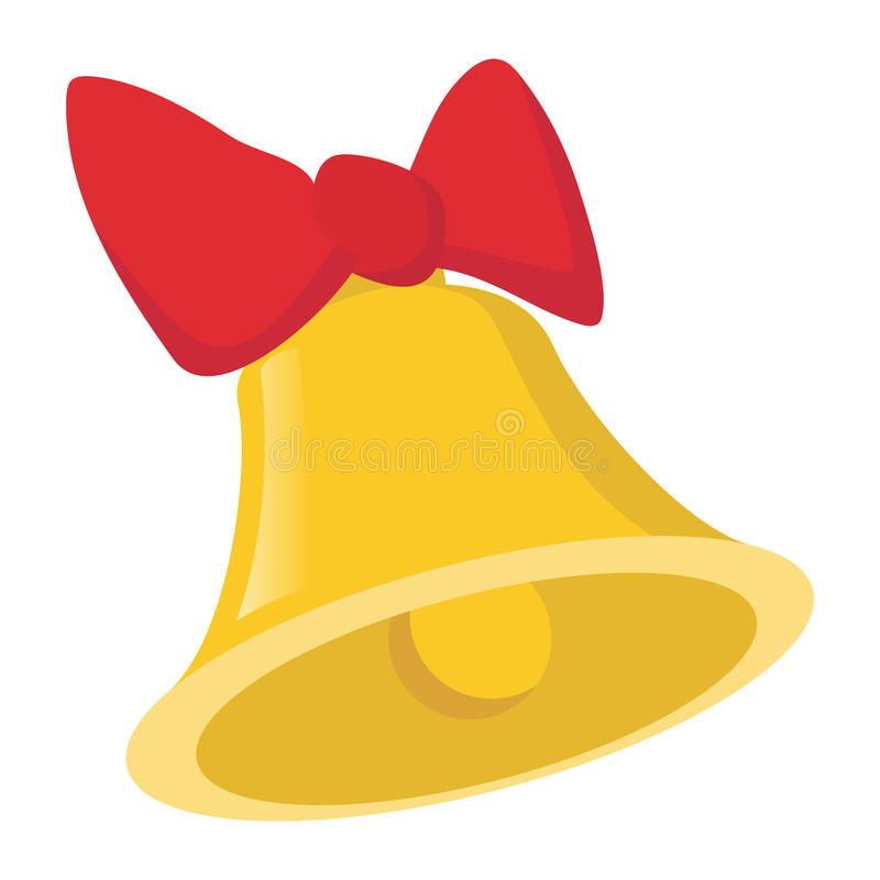 Free Bell With A Bow Cartoon Icon Stock Image - 79786381