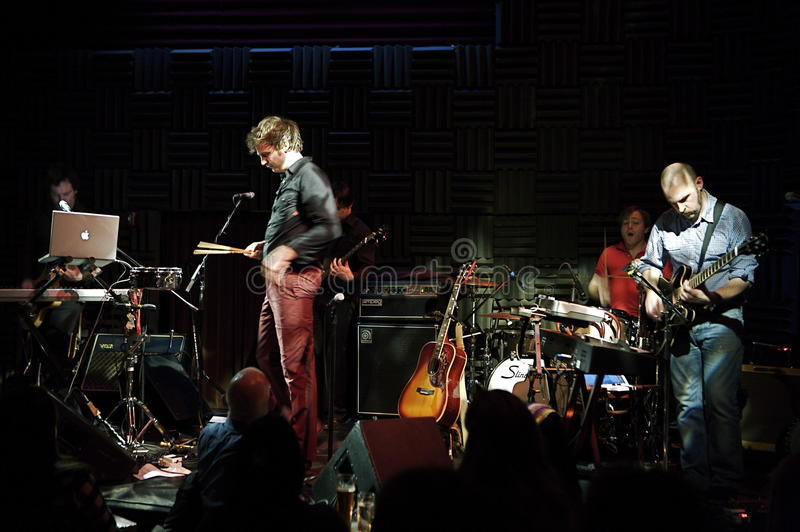Bell X1 at Joe's Pub. This is a picture of the Irish band Bell X1 at Joe's Pub, New York City, January the 16th 2008 royalty free stock images