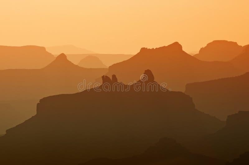Bella alba in Grand Canyon, U.S.A. fotografia stock libera da diritti