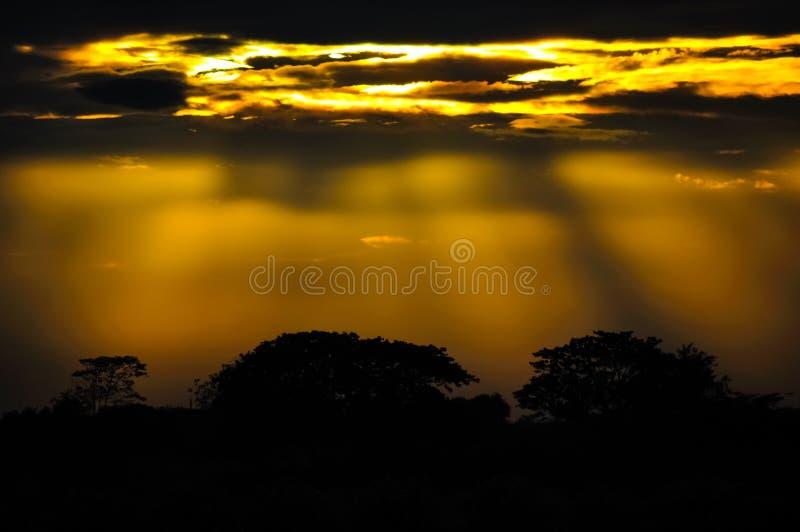 Bella alba in Tailandia fotografie stock
