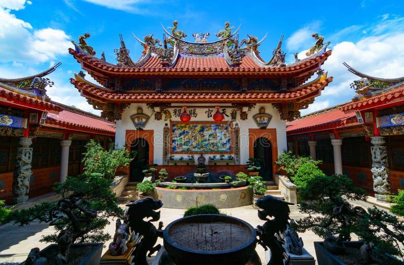 Bella architettura cinese di Huwei Chifa Matsu Temple nella contea di Yunlin, Taiwan fotografia stock libera da diritti