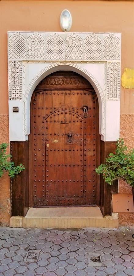 Bella architettura di vecchia città fortificata Medina Marrakesh fotografia stock