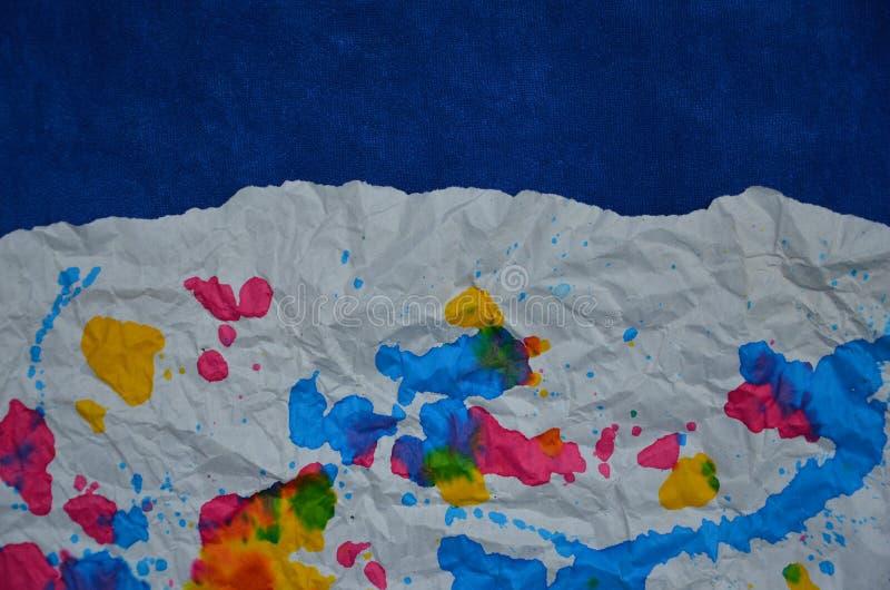 Bella arte colorata su Libro Bianco fotografia stock libera da diritti
