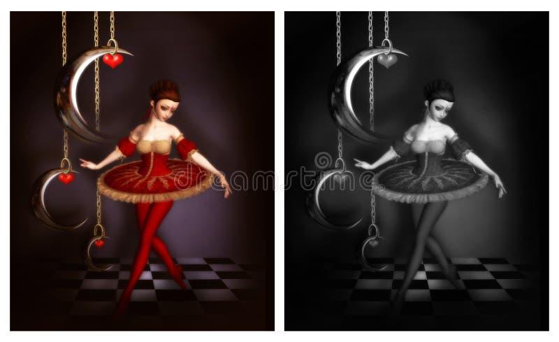 Bella ballerina illustrazione di stock