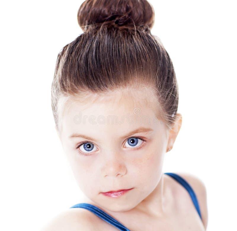 bella ballerina isolata su bianco fotografia stock libera da diritti
