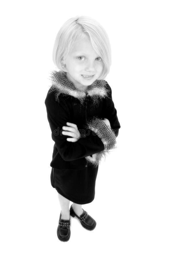 Download Bella Bambina In In Bianco E Nero Immagine Stock - Immagine di cinque, bambino: 201231
