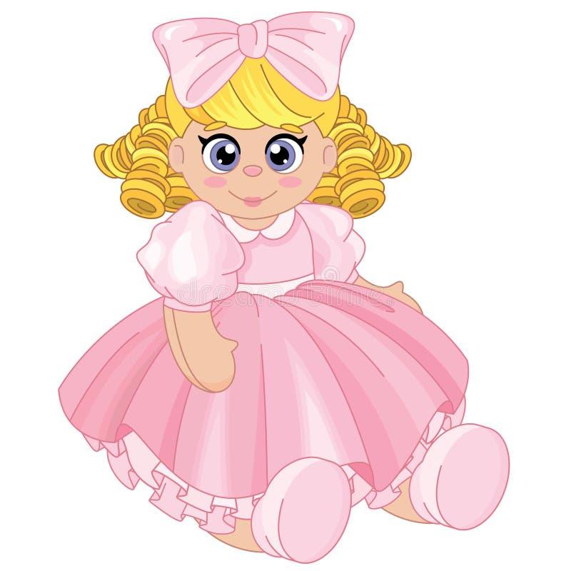 Bella bamboletta con capelli biondi royalty illustrazione gratis