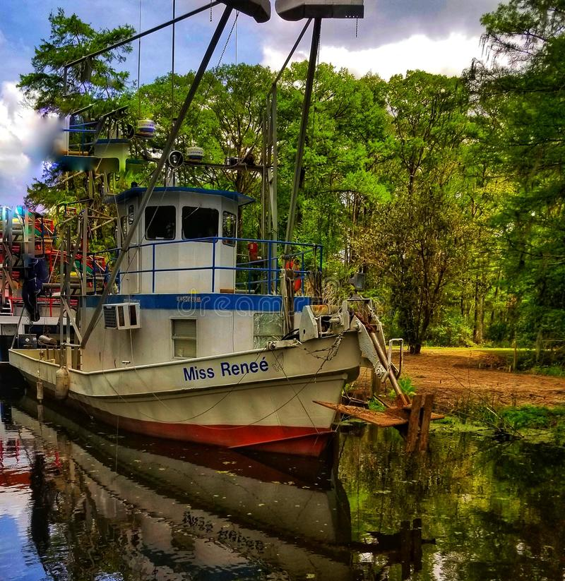Bella barca del gamberetto fotografia stock