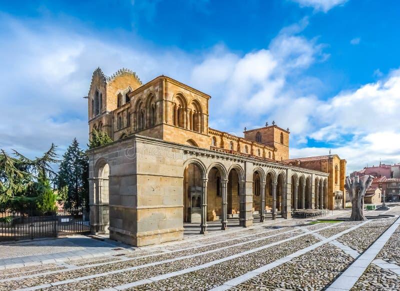 Bella basilica de San Vicente, Avila, Castiglia y Leon, Spagna immagine stock libera da diritti