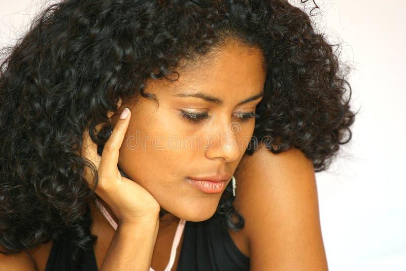 Download Bella bellezza serena fotografia stock. Immagine di brunette - 219310