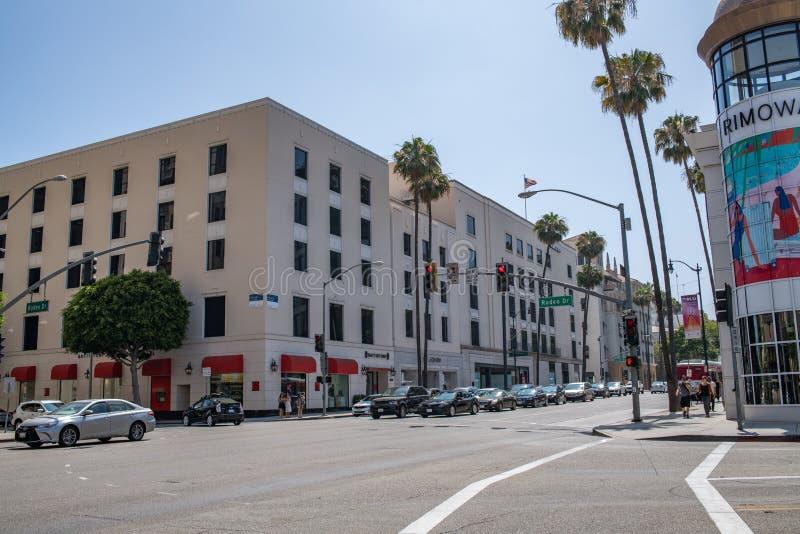 Bella Beverly Hills, California un giorno di estate fotografie stock libere da diritti