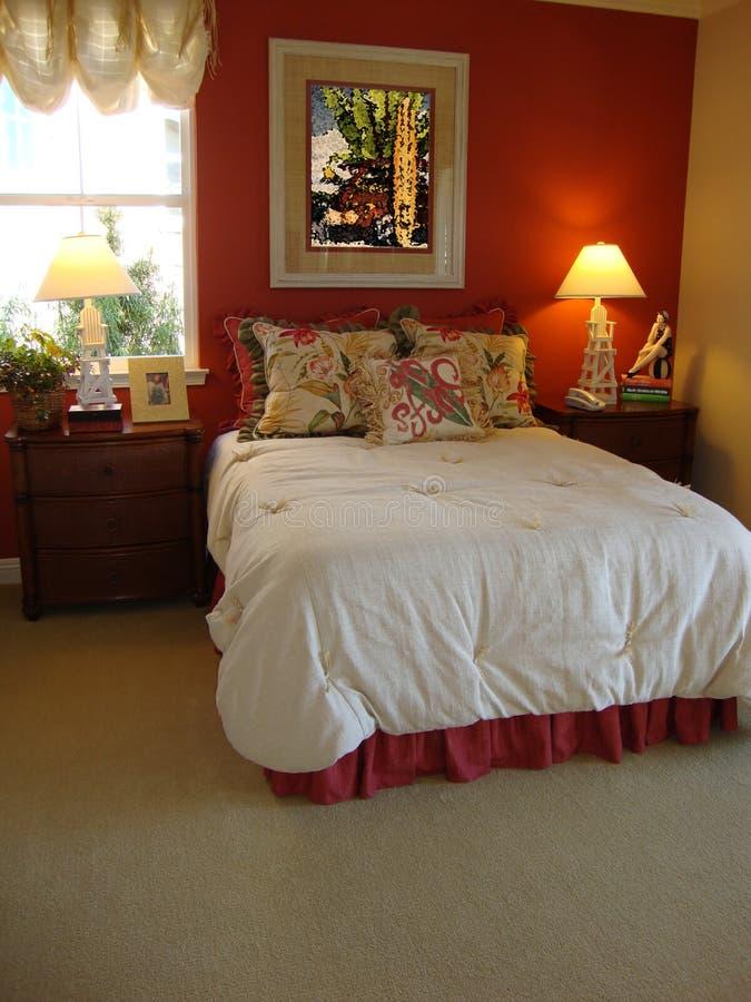 Bella camera da letto fotografia stock