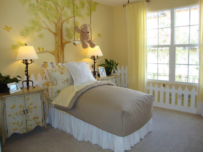 Bella camera da letto di Childs fotografie stock