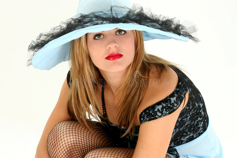 Bella cameriera al banco fotografia stock libera da diritti