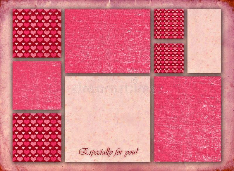 Bella carta alla moda del biglietto di S. Valentino illustrazione di stock