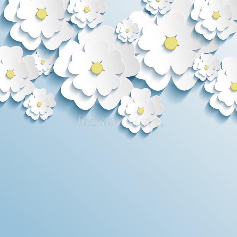 Bella carta da parati con 3d i fiori alla moda sakura for Carta da parati con fiori