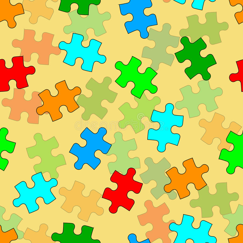 Bella carta da parati senza giunte con il puzzle di puzzle illustrazione vettoriale