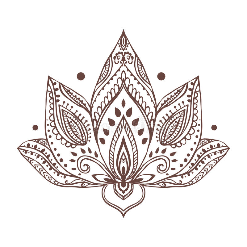 Bella carta dell'ornamento con yoga di vettore fotografie stock libere da diritti