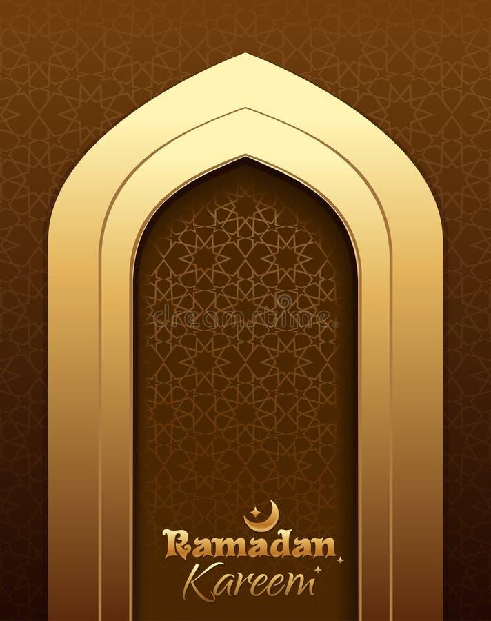 Bella cartolina d'auguri per il mese santo il Ramadan illustrazione vettoriale