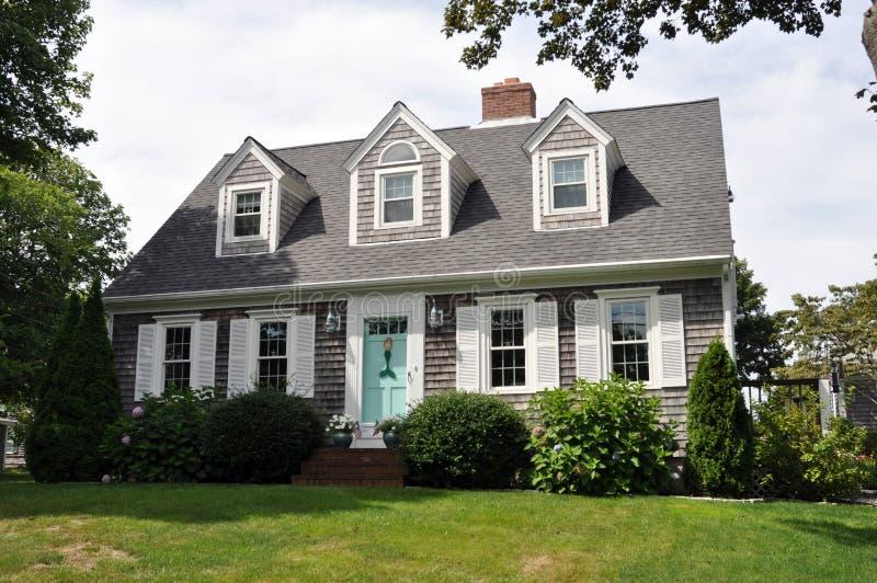 Bella casa della Nuova Inghilterra immagine stock libera da diritti