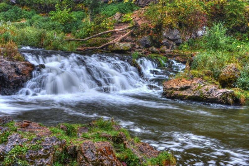 Bella cascata del fiume in HDR High Dynamic Range fotografia stock