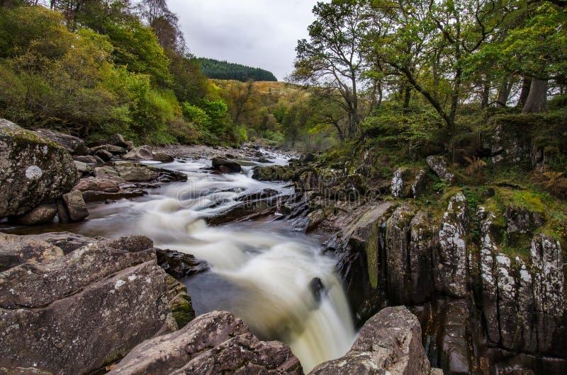 Bella cascata di Braklynn in Scozia fotografia stock libera da diritti