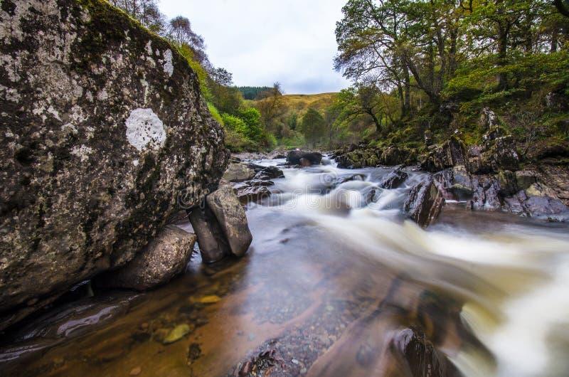 Bella cascata di Braklynn in Scozia immagine stock libera da diritti