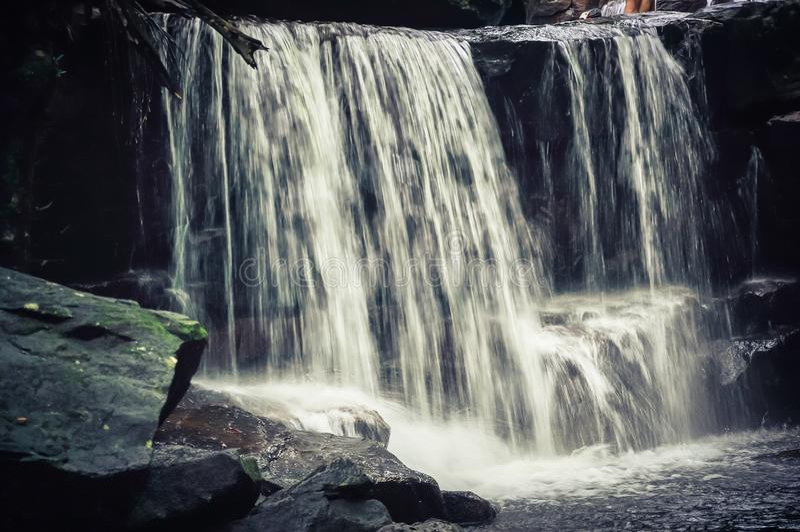 Bella cascata di Suoi Tranh in Phu Quoc, Vietnam fotografia stock