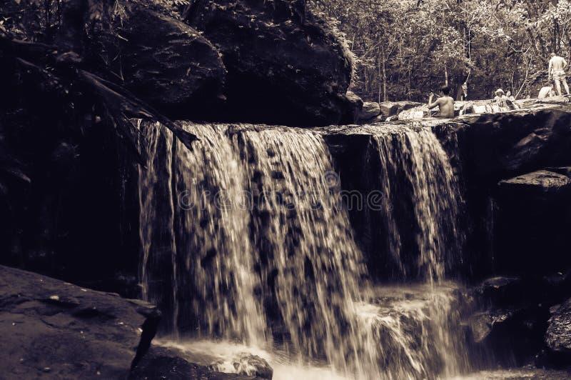 Bella cascata di Suoi Tranh in Phu Quoc, Vietnam immagine stock libera da diritti