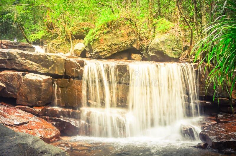 Bella cascata di Suoi Tranh in Phu Quoc, Vietnam immagine stock